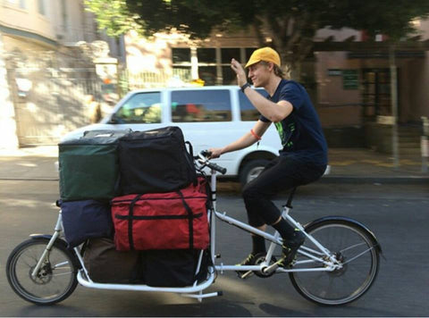 CETMA cargo bike, TCB Courier in San Francisco, CA.