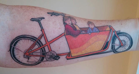 Todd Consentino cargo bike tattoo