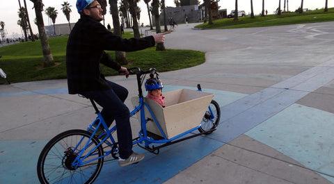 CETMA cargo bike at Venice Beach, CA.