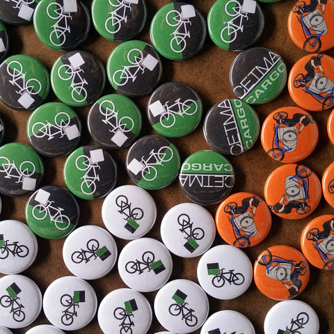 CETMA buttons and magnets