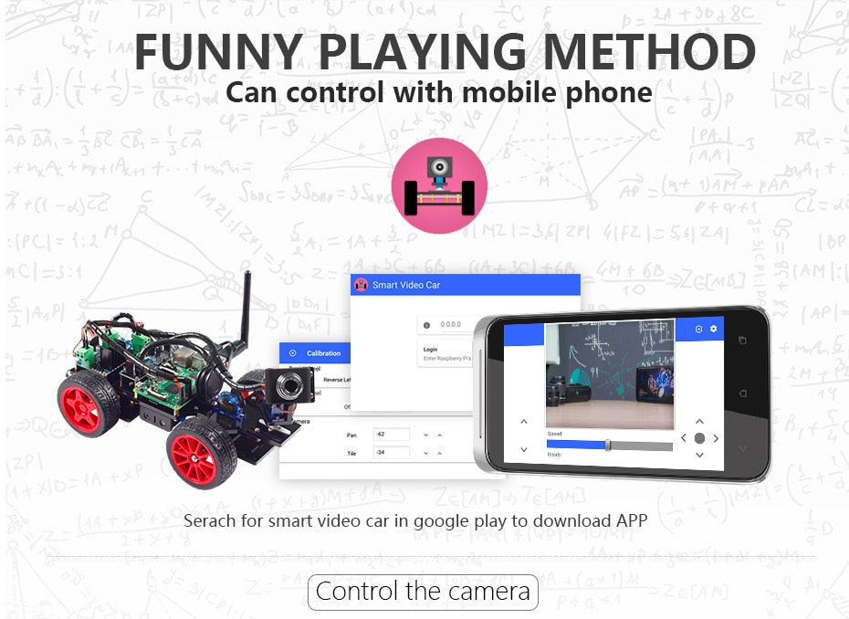 Smart Video Robot Car For Raspberry Pi with Android App (RPI not included ) - PICTOROBO