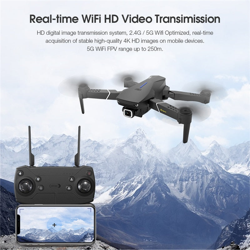 Foldable RC Quad copter Camera Drones GPS WIFI FPV With 4K/1080P HD Wide Angle Camera - PICTOROBO