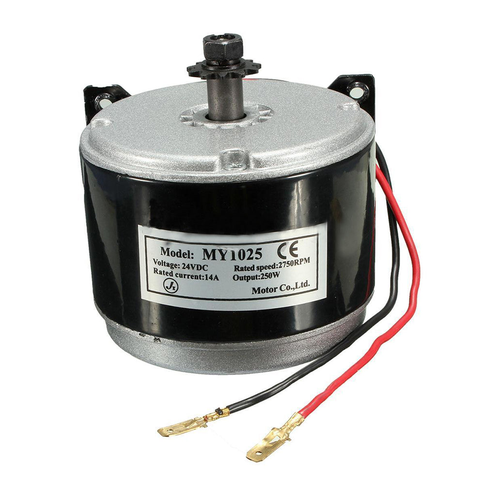 24V Electric  Brushed 250W 2750RPM Motor For E Scooter