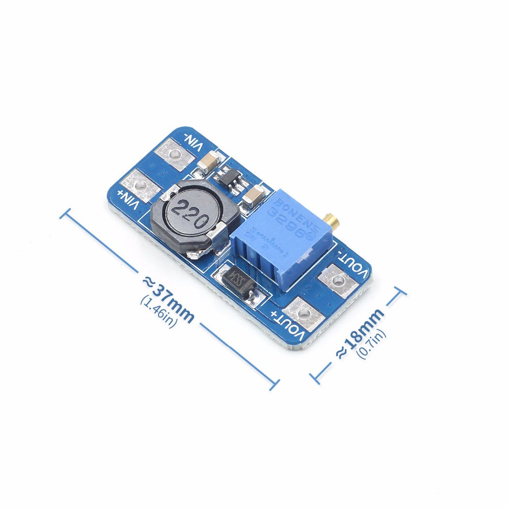 DC-DC Step Up Converter Booster Power Supply Module Boost MAX output 28V 2A For Arduino - PICTOROBO