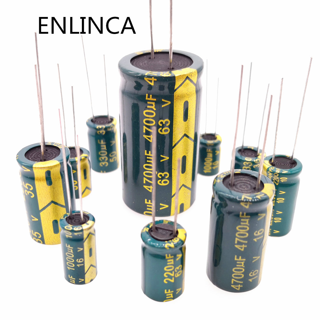 5-20pcs  Low ESR high frequency 47UF -2200UF aluminum capacitor