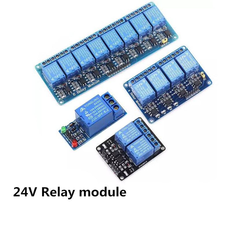 1pcs 24V 1/2/4/6/ 8 channel relay module with optocoupler for arduino