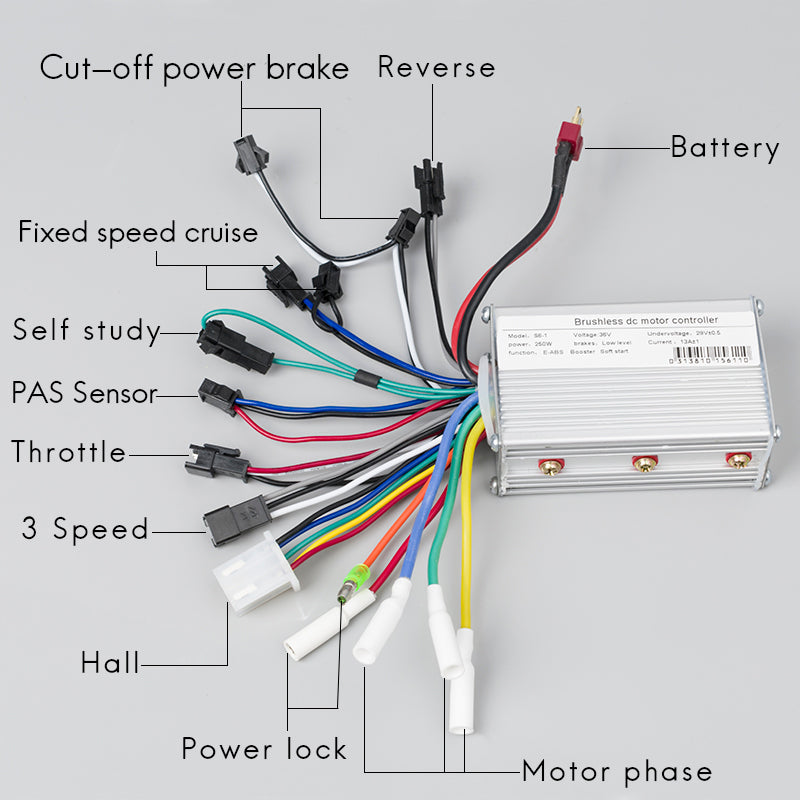 BLDC Motor Brushless Speed Controller 250w