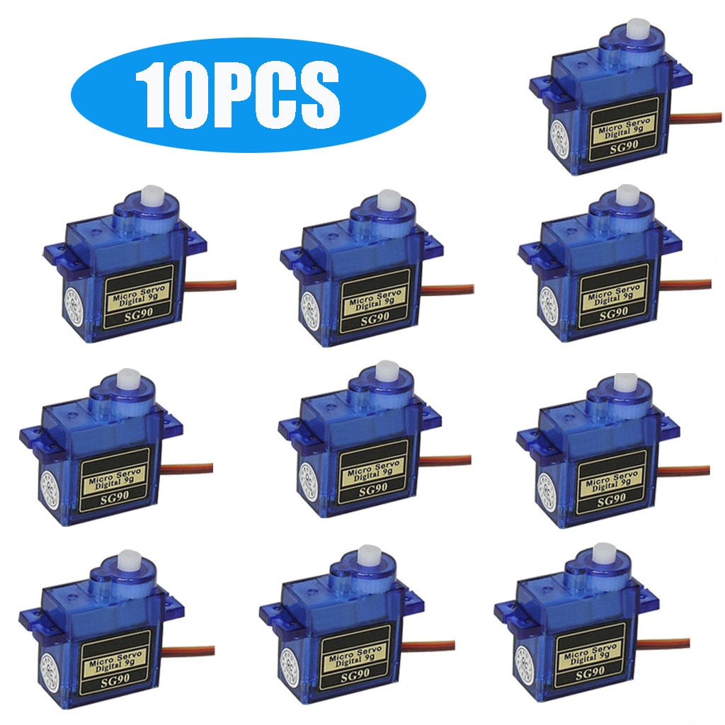 9x 9G SG90 Micro Servo Motor For RC Robot Helicopter