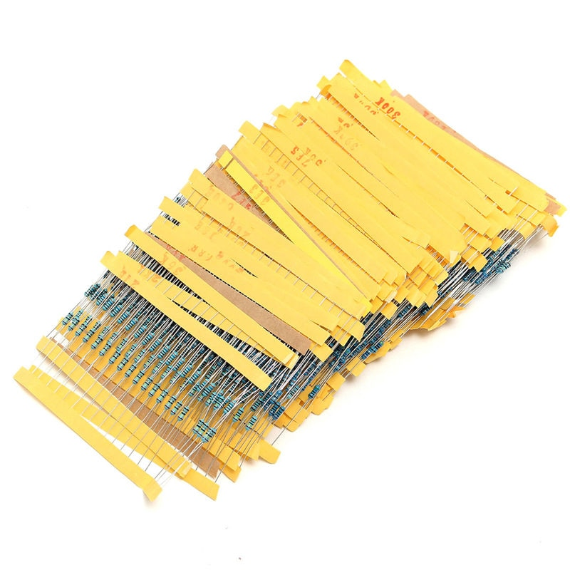 2600pcs 130 Values 1/4W  Metal Film Resistors Assorted Pack Kit - PICTOROBO
