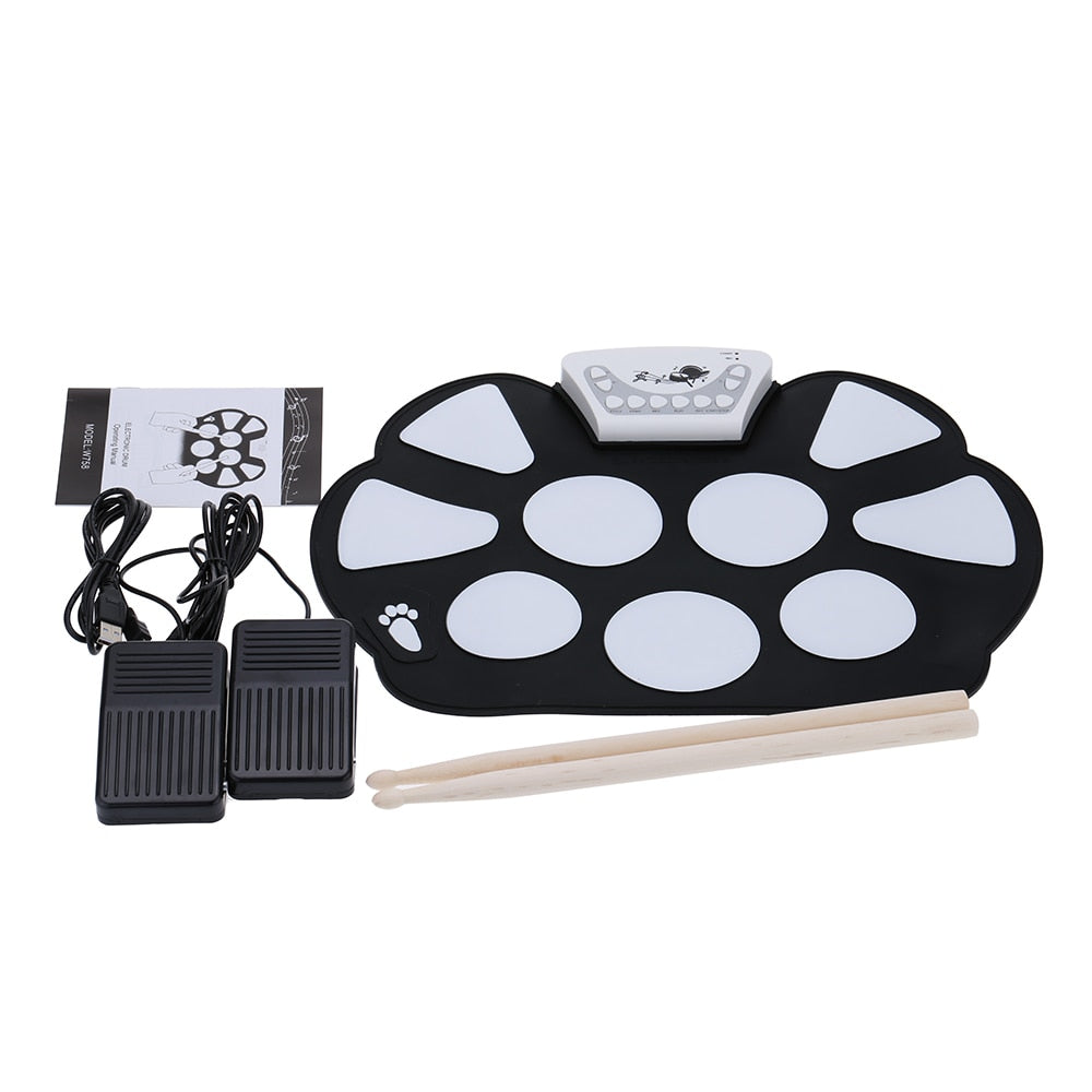 Roll up Electronic Drum USB Pad Kit Pictorobo