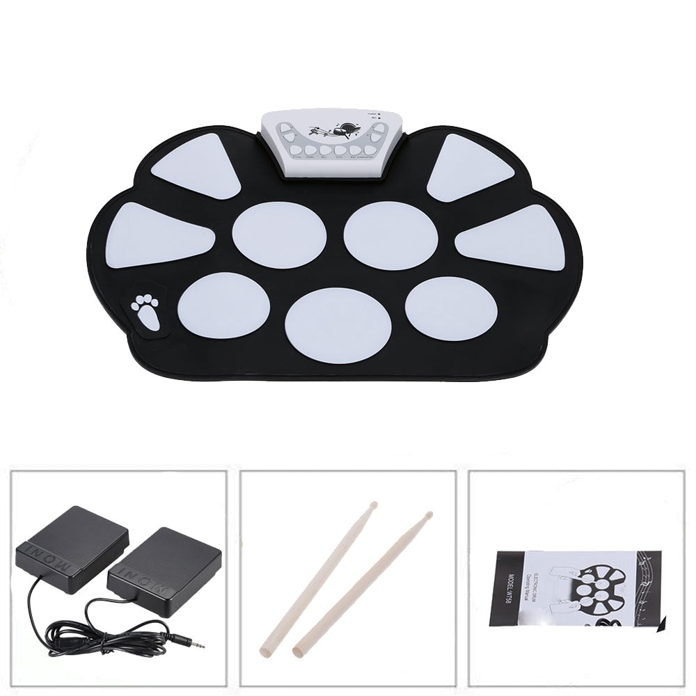 Roll up Electronic Drum USB Pad Kit - PICTOROBO