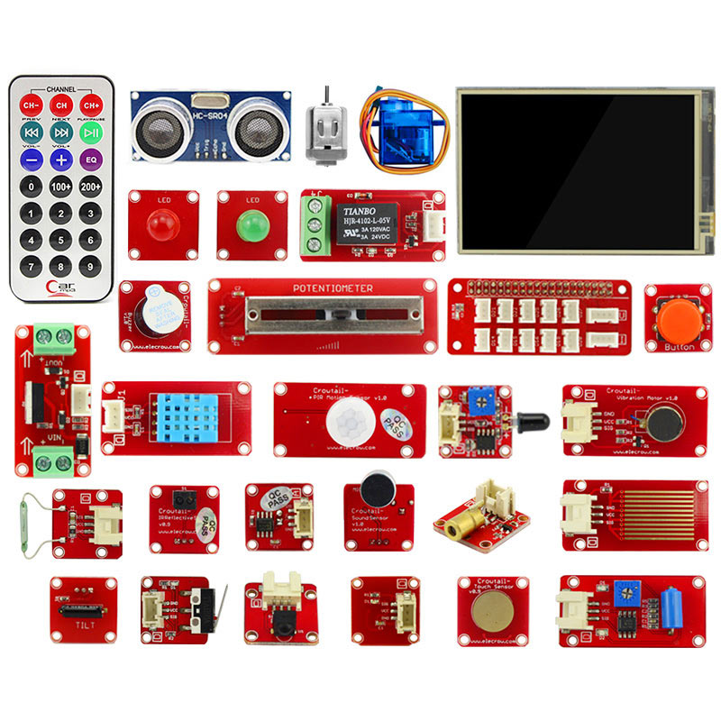 Raspberry Pi 3/4 Starter Kit 3.5 inch Display Sensor Modules LED 9G Servo Raspberry Pi IOT Projects Electronic DIY Kit - PICTOROBO