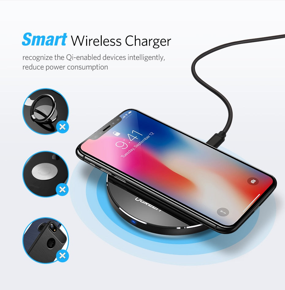 Ugreen™ 10W Qi Fast Wireless Charging Pad - PICTOROBO