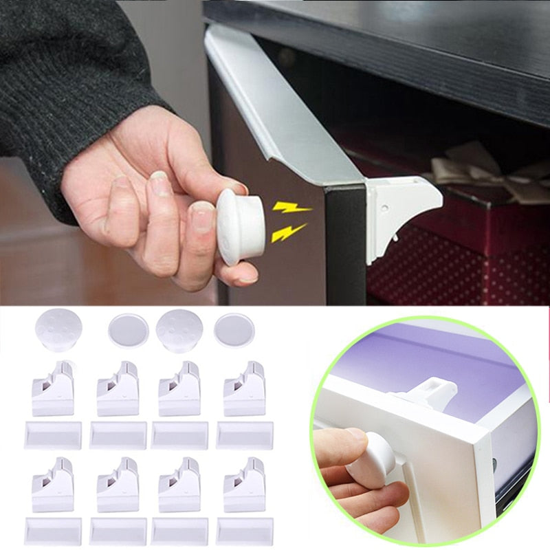 Magnetic  Safety  Kids  Protection Cabinet  Drawer  Security Invisible Locks