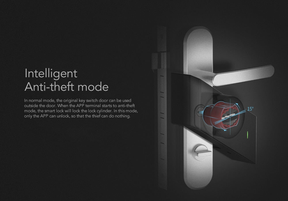 Smart Fingerprint Keyless Door Lock  with Digital Security - PICTOROBO