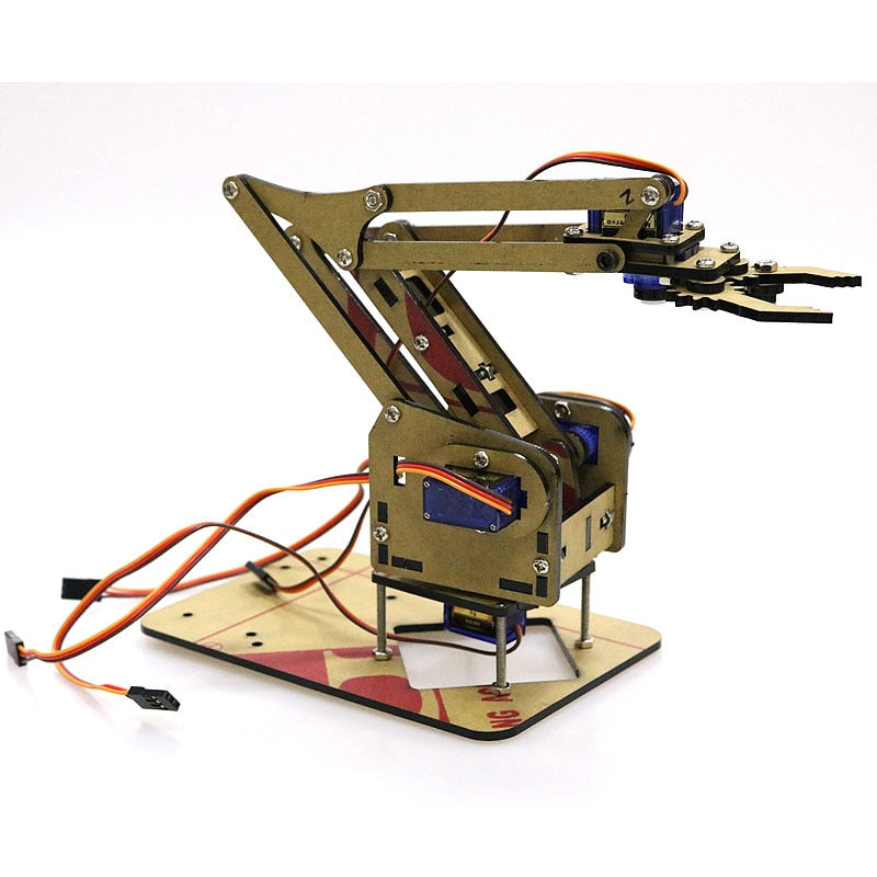 Acrylic Mechanical Arm Robot for Learning DIY Kit