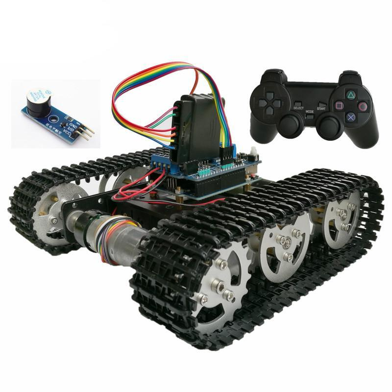 Wireless Control Smart RC Robot Tank Chassis with Uno & PS2