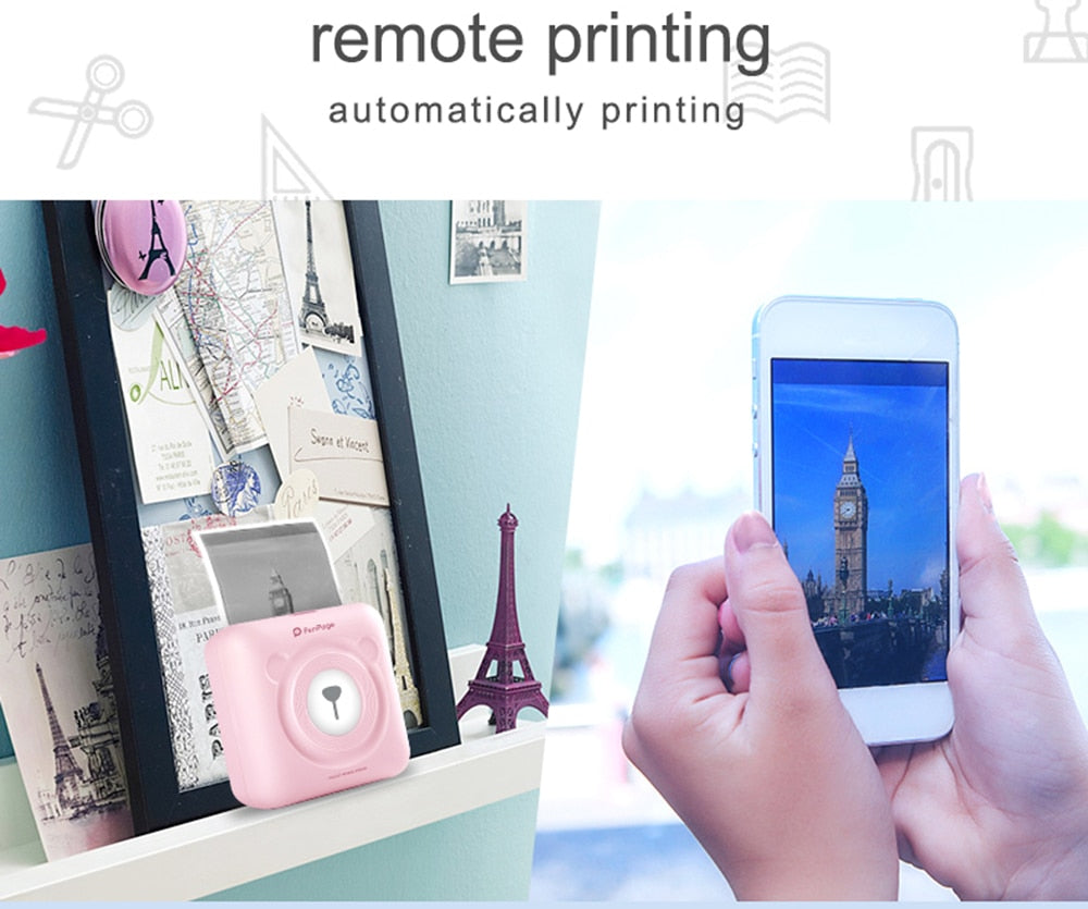 Mini Pocket  Photo Printer Using Mobile - PICTOROBO