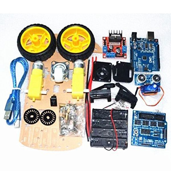Smart Robot Car Chassis diy kit with arduino uno - PICTOROBO