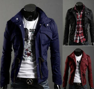 Free Shipping New Slim Sexy Top Designed Mens Jacket Coat Colour:Black,Army green,Gray,Wholesale&Retail,hot-cgabuy