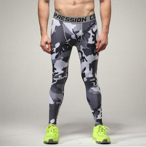 Mens compression pants bodybuilding jogger fitness exercise skinny leggings comperssion tights pants trousers clothes clothing-cgabuy