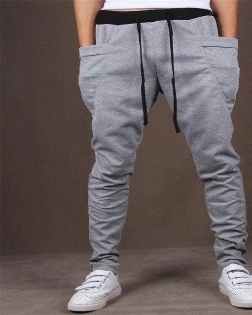Hot 2016 baggy tapered bandana pants hip hop dance harem sweatpants step pants men Parkour track cone pants-cgabuy