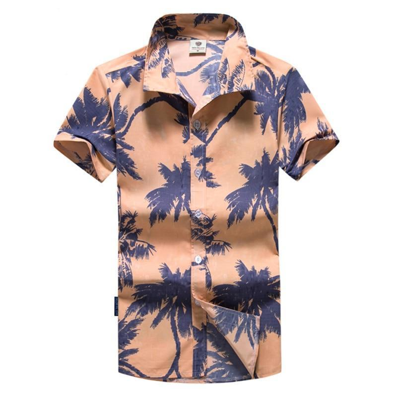 Tailor Pal Love new summer fashion printed men beach shirt short sleeve hawaiian shirt for male M-5XL AYG297-cgabuy
