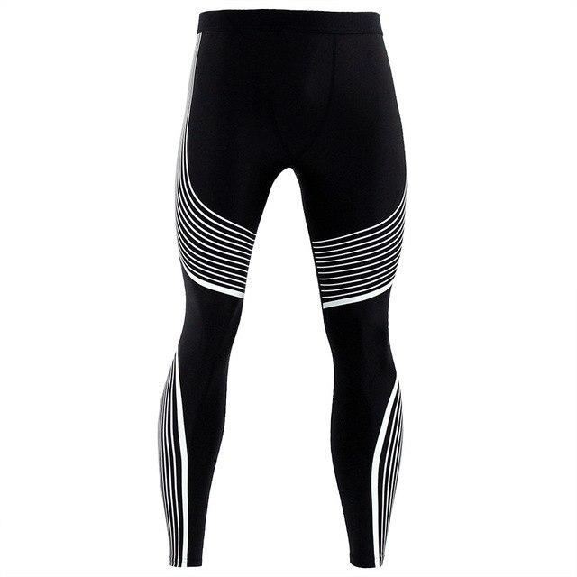 Men Pants 2017 New Compression Pants Brand Clothing Base Layer Tights Exercise Fitness Long Leggings Trousers Leisure Pants Man-cgabuy