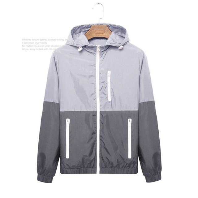 Brand Clothing Men Jacket Coat Male Jacket with Hood Quick Drying Windbreaker Outerwear Mens Jackets and Coats Men Clothes-cgabuy