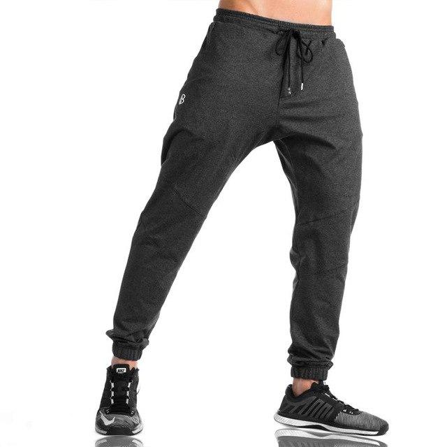 Men's AthleticPants Workout Cloth Sporting Active Cotton Pants Men Jogger Pants Sweatpants Bottom Legging-cgabuy