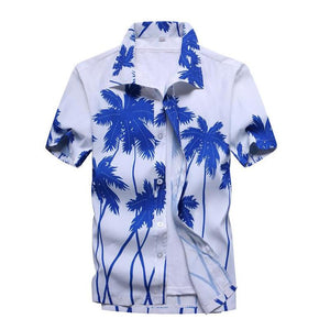 Ahkuci Mens Hawaiian Shirt 2017 Summer New Casual Camisa Masculina Floral Printed Short Sleeve Male Beach Shirts Plus Size-cgabuy