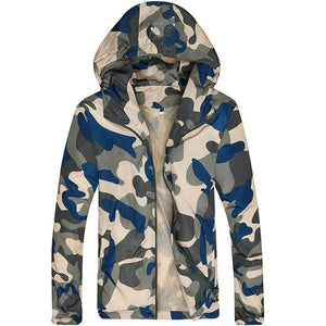 Hot Selling 2017 New Arrival Men Fashion Camouflage Jacket Spring Summer Autumn Tide Male Hooded Thin Sunscreen Coat Wholesale-cgabuy
