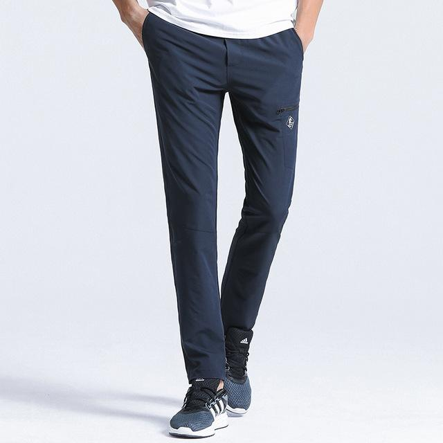 Pioneer Camp New quick drying casual pants men brand-clothing solid straight trousers male quality stretch AXX701160-cgabuy