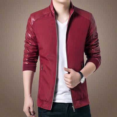 DIMUSI Spring Autumn Men's PU Patchwork Jackets Casual Men's Thin Solid Jackets Male Slim Windbreaker jacket and Coats 5XL,YA701-cgabuy