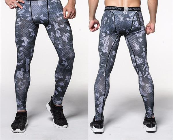 Mens Compression Joggers Pants 2017 Crossfit Tights Lifting Bodybuilding Sweatpants Army Camouflage Pant Base Layer Leggings-cgabuy