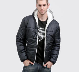 GustOmerD Brand Winter Coat Men Casual Hoodied Patchwork Cotton Padding Parka Men Clothing Winter Jacket Men-cgabuy
