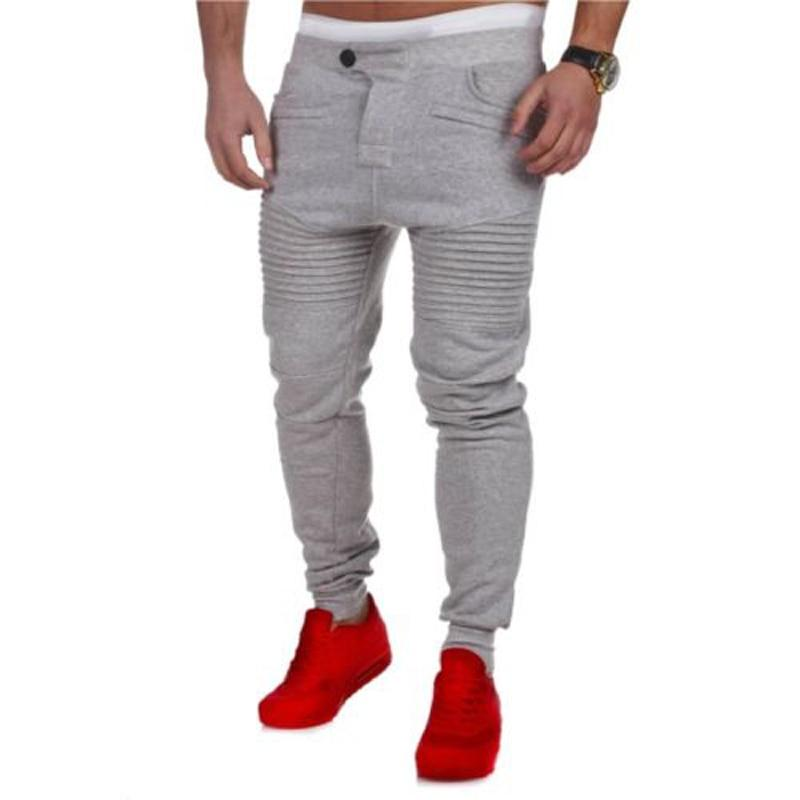 New Fashion Casual Skinny Mens Pants Skinny Harem Sweatpants Tracksuit Bottoms Pants Trousers Casual Pants-cgabuy