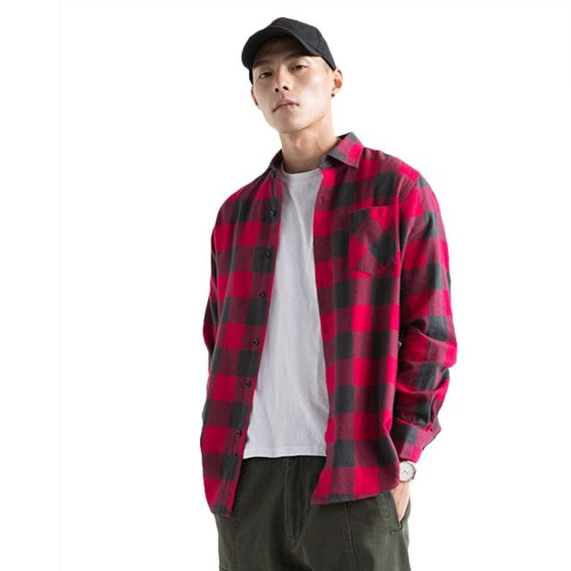 Aelfric Eden Men Shirt Casual Streetwear Flannel Ripped Plaid Shirt Long Sleeve Man Winter Turn-down Collar Hip Hop Shirts Ae018-cgabuy