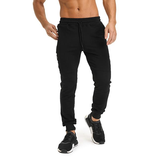 NANSHA Brand Mens Cotton Sweatpants Gyms Fitness Bodybuilding Trousers Male Solid Sportswear Casual Fashion Pencil Pants-cgabuy