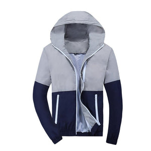 Hot 2017 New Stylish Fashion High Quality Jacket Coats, Men Causal Hooded Jacket,Men Thin Windbreaker Zipper Coats Outwear Brand-cgabuy