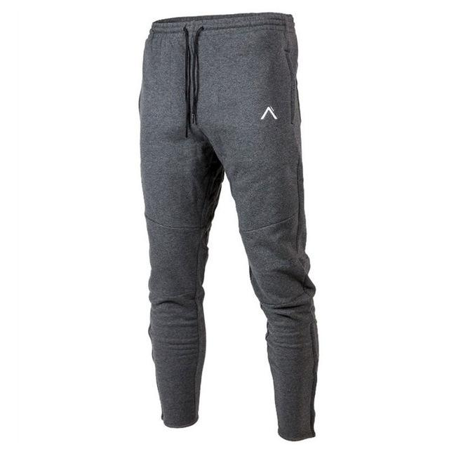 Autumn winter Men Fitness Sweatpants male gyms Bodybuilding workout cotton trousers Casual fashion sportswear Brand Pencil pants-cgabuy