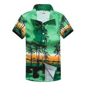 Tailor Pal Love Mens Hawaiian Shirt Male Casual camisa masculina Printed Men Beach Shirts Short Sleeve-cgabuy