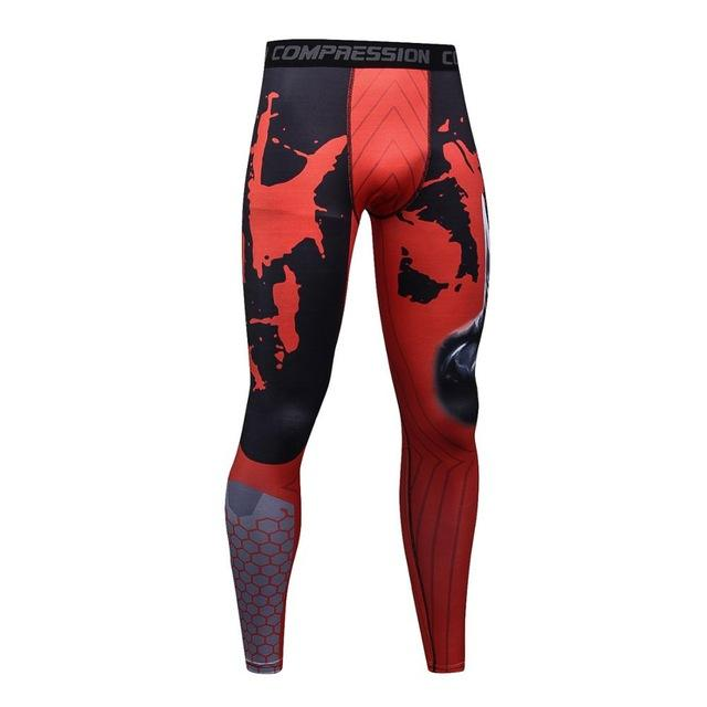 New Men compression Skin tights Leggings Crossfit Bodybuilding male Bottom MMA trousers fitness pants-cgabuy