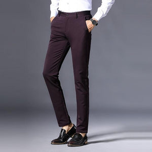 WOLF ZONE Brand Pants Men Spring and Autumn Classic Fashion Slim Fit Casual Male Trousers High Quality Mens Brand Clothing-cgabuy