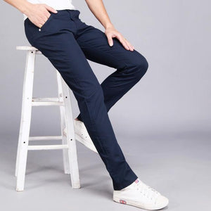Men Casual Pants spring summer New Fashion 2018 multi color Slim long pants Straight Male Pocket men's trousers pantalon hombre-cgabuy