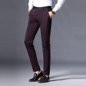 2018 Spring and Autumn Classic Casual Pants Men Fashion Slim Fit Male Trousers Zipper High Quality Mens Business Brand Clothing-cgabuy