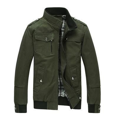 4XL Plus Size 2018 New Casual Men's Jacket Spring Army Military Jacket Men Coats Winter Male Outerwear Autumn Overcoat Khaki-cgabuy