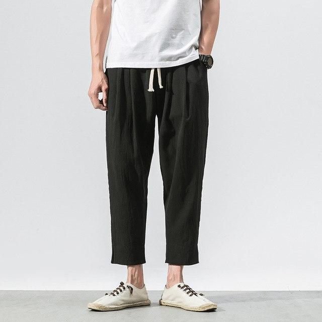 Sinicism Store 5XL Cotton Linen Pants Mens Jogger Pants Casual Male Summer Trousers Chinese Style Costumes-cgabuy