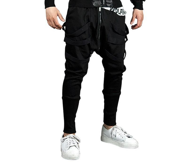 T-bird Men Casual Pants Mens Joggers Pant 2018 Brand Male Hip Hop Cotton Pants Solid Lacing Slim Tights Street Style Men's Pants-cgabuy