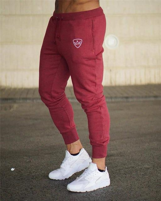 Men BeLegend Gyms Longpants Mid Men's Sporting workout fitness Pants casual Fashion sweatpants jogger pants skinny trousers-cgabuy